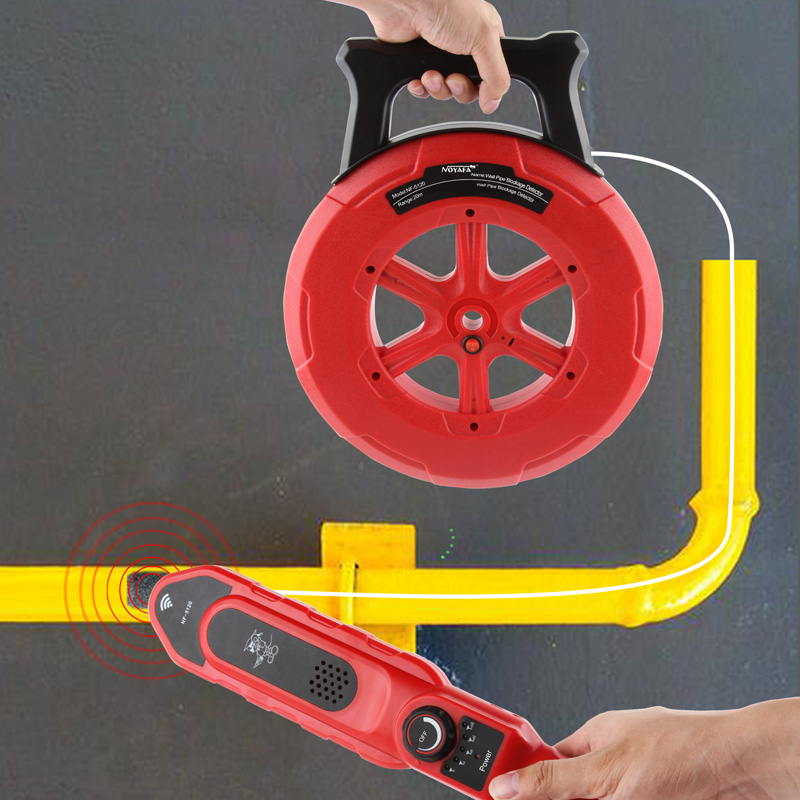 NOYAFA Wall PVC Iron Cement Plastic Pipe Blockage Detector NF-5120 Pipe Detector Pipe Blocking Clogging Scanner Plumber Tool