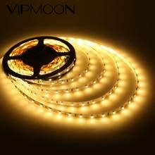 5m 300led smd 3528 led tiras de luz dc12v 60leds/m não-impermeável quente branco led tiras