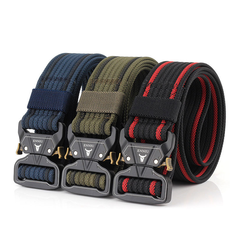 12 Colors Nylon Belt Army Tactical Belt Men Military Combat Belts Knock Off Emergency Survival Waist Tactical Gear High Quality