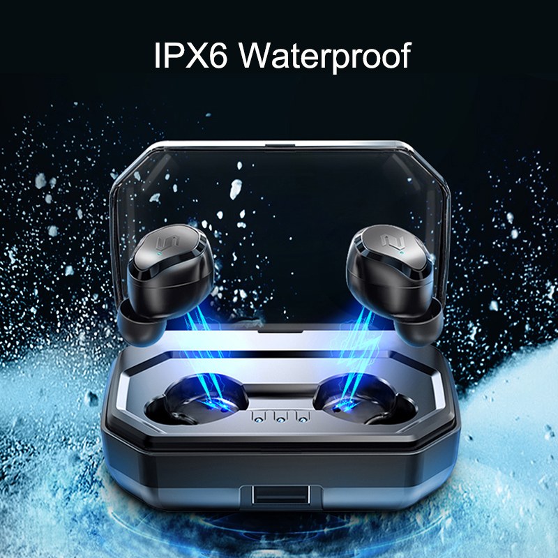 Image 2 - TWS S8 Plus True Wireless Earbuds Bluetooth 5.0 Earphones Touch Control IPX6 Waterproof CVC8.0 Noise Cancelling Headset With Mic-in Bluetooth Earphones & Headphones from Consumer Electronics