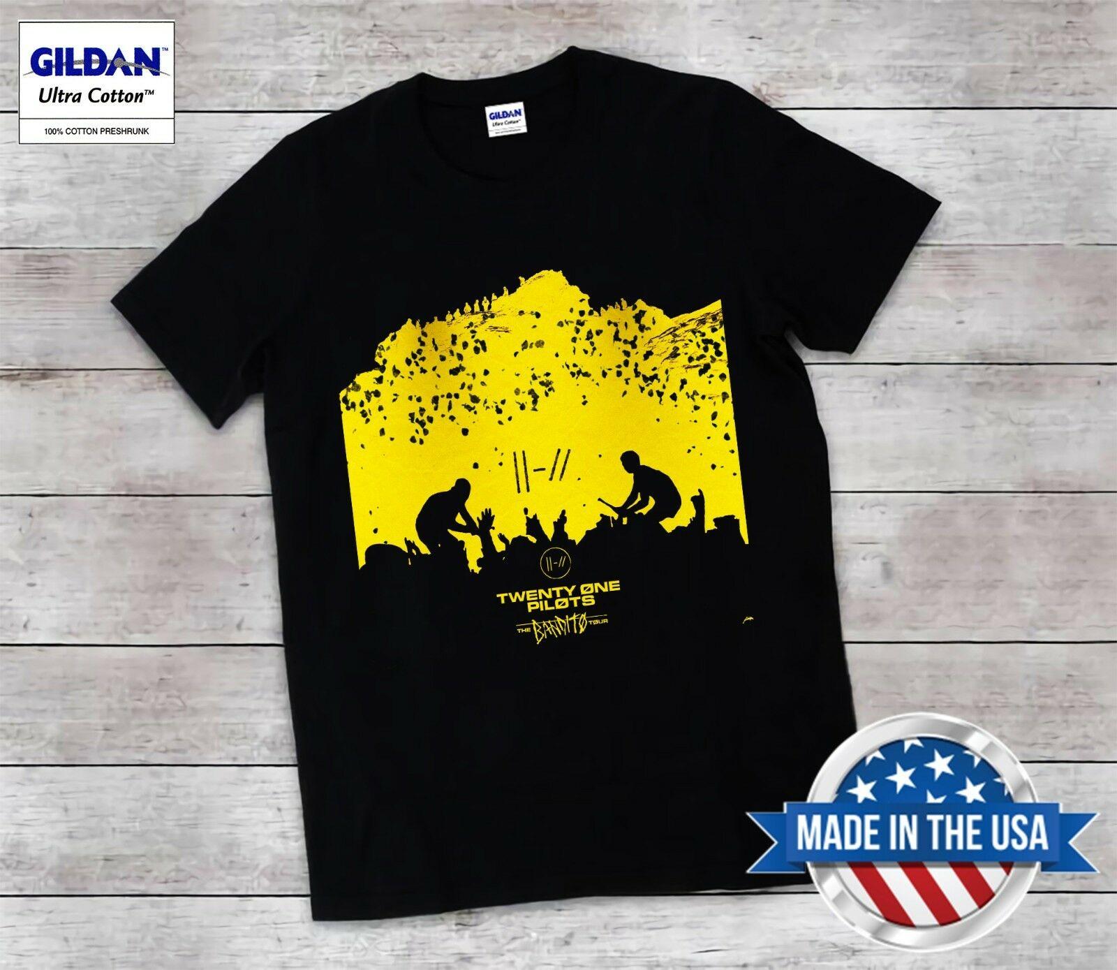 New Twenty One Pilots 21 Pilots The Bandito Tour RARE EDITION T Shirt Unisex