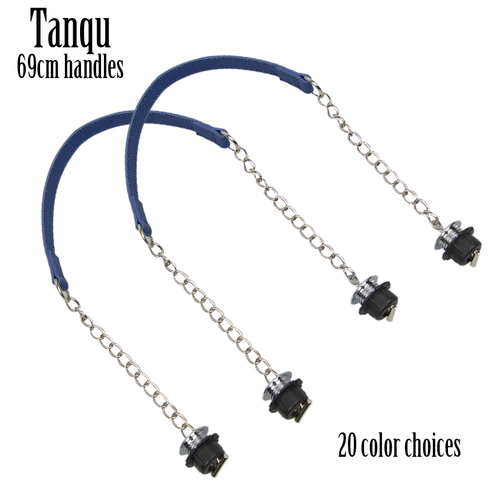 2019 New TANQU 1 Pair Obag Silver Short Single Thick Chain With Metal Plating Screw For O Bag Handle Women Bag Shoulder HandBag