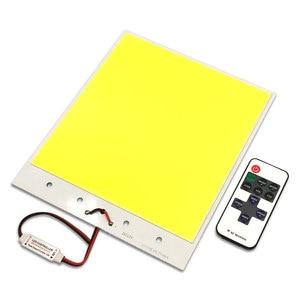 Image 4 - 210x180mm ענק 12V COB LED פנל אור 300W RC Dimmable LED מנורת עבור חיצוני קמפינג מסיבת תאורת בית תפאורה הנורה DIY
