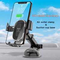 car air outlet Car Wireless Charger Mobile Phone Bracket Suction Cup Telescopic Car Cell Phone Navigation Bracket Air Outlet Charging Bracket (2)