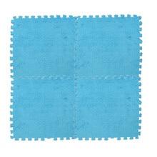 Игровые коврики 25X25 см, детский коврик-пазл из пенопласта, EVA лохматый бархатный Детский эко-пол, 7 цветов#20