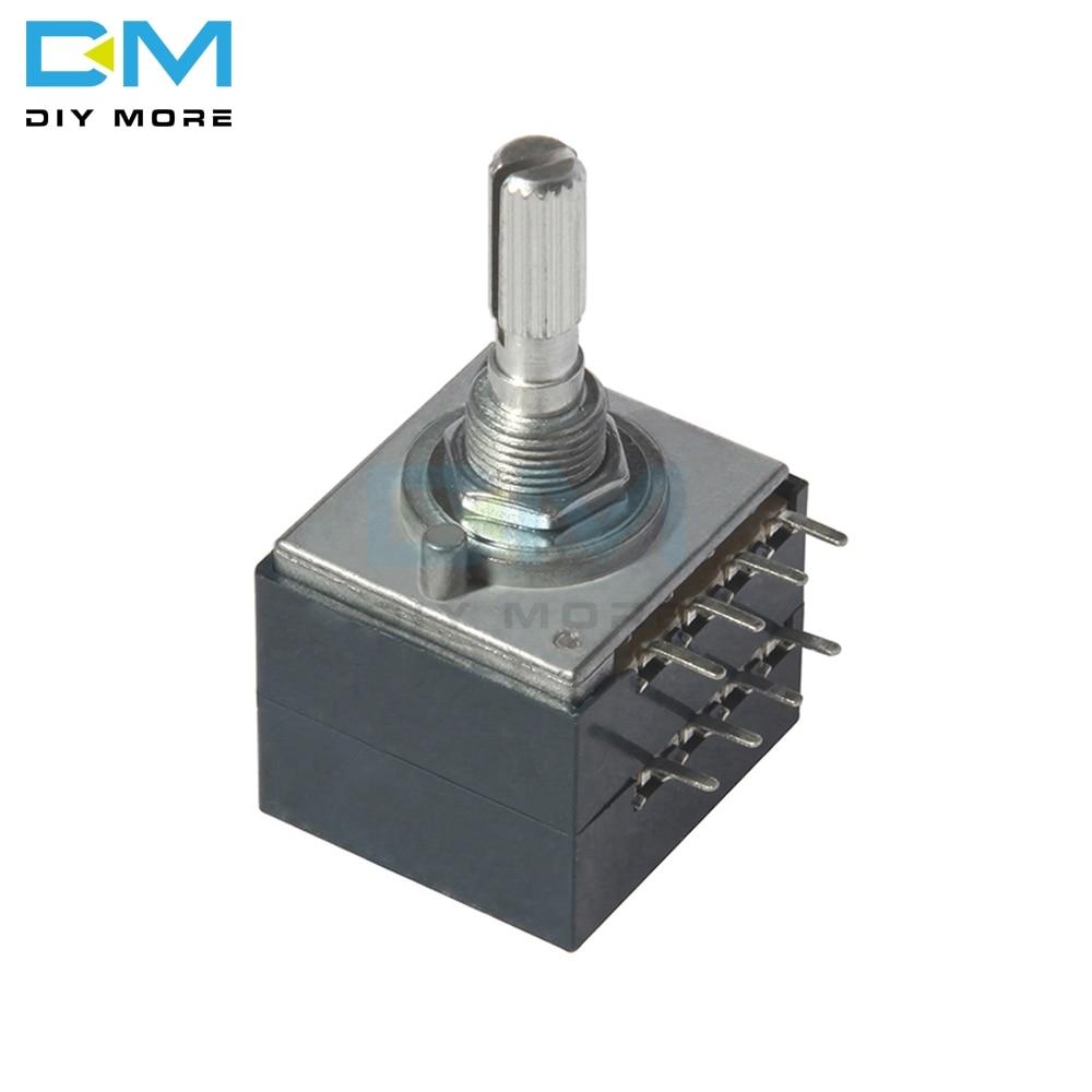 100K ALPS Rotary Potentiometer LOG RH2702 Audio Volume Control Pot Stereo W Loudness