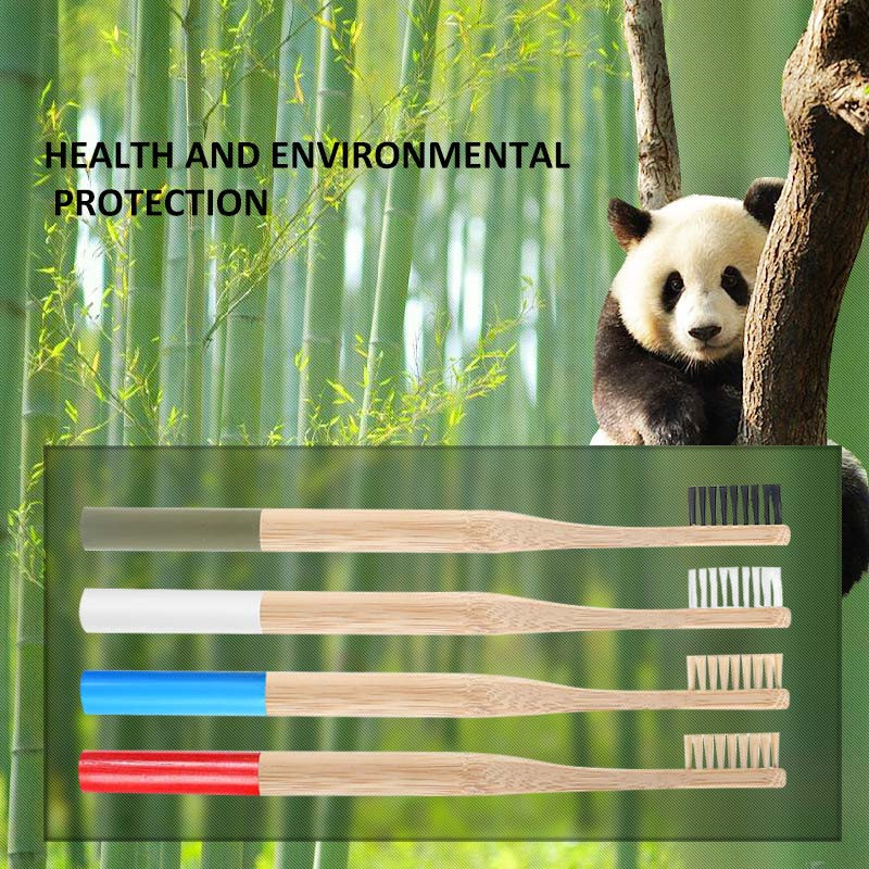1pcs Eco friendly bamboo toothbrush Biodegradable Plastic Free Oral Care adult bamboo toothbrush handle tooth brush image