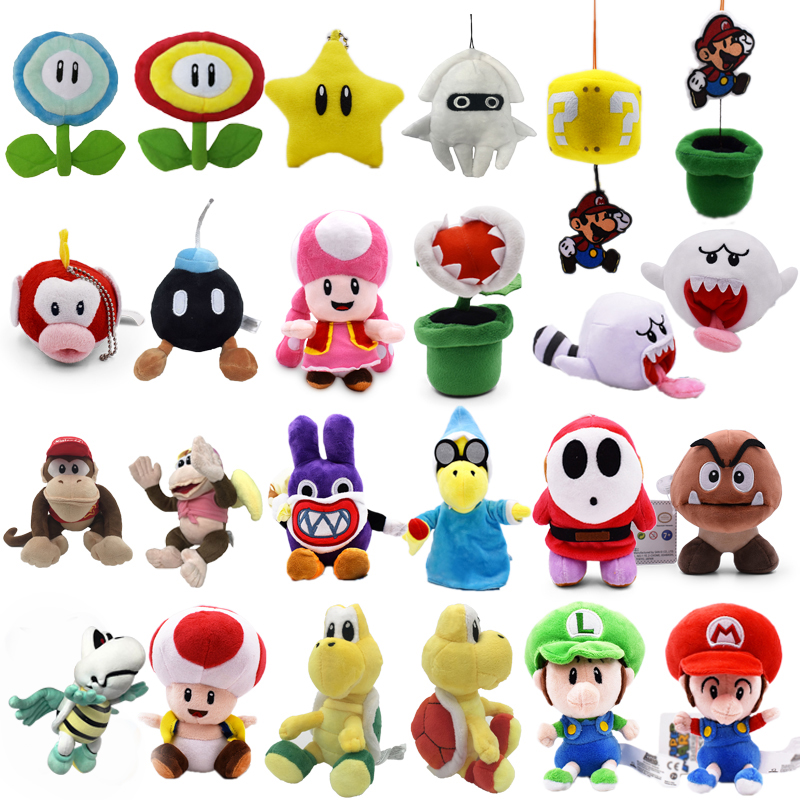 Anime Super Mario Bros Bomb Magikoopa Toad Shy Guy Ghost Blooper DiddyPeluche Doll Plush Soft Stuffed Baby Toy Christmas Gift
