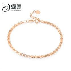 18K Emas Gelang Mawar Emas Phoenix Ekor Gelang Emas Gelang Perhiasan Emas Gelang Wanita Asli Au750