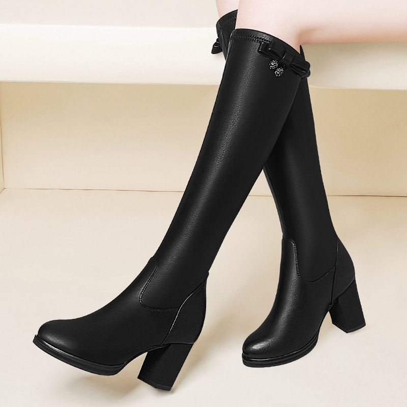 Gucci Tianlun Boots Women's Knee 2019 Autumn & Winter New Style High-Heel Boots Knight Boots Boots WOMEN'S Shoes Mid-length