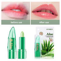 Pure Natural Aloe Vera Lipstick Temperature Change Color Red Lip Balm Long Lasting Moisturizing Anti-crack Care Lip TSLM1