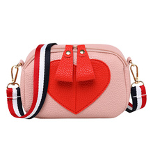 Wide Ribbon Pillow Double Zipper Camera Shoulder Bag Love Money Mobile Phone Messenger 2019 New Womens