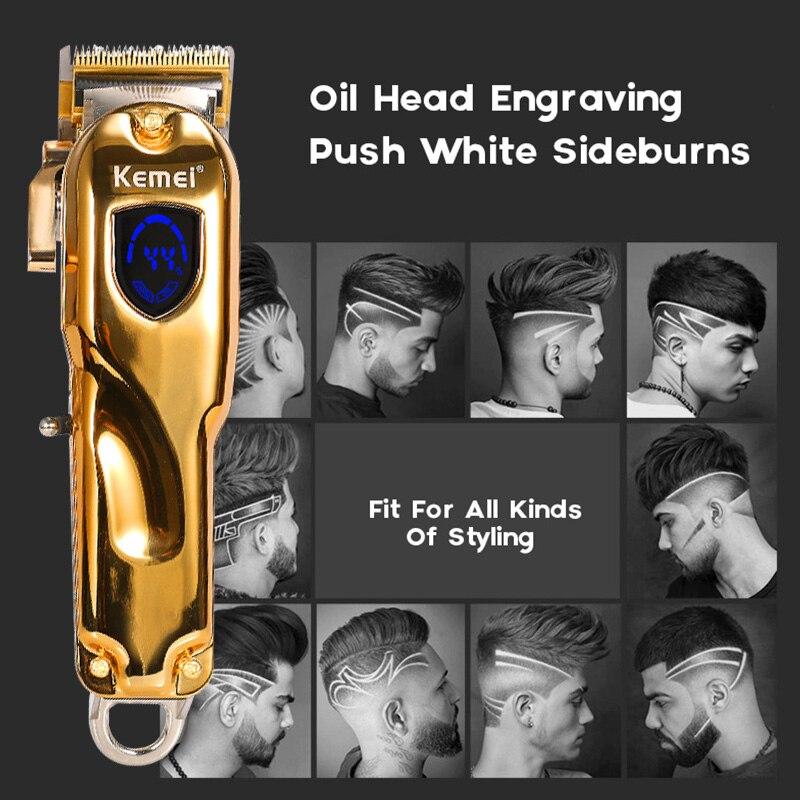 aparador de cabelo de metal para homens