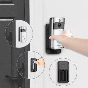 Image 5 - EKEN V5 wideodomofon, inteligentny, bezprzewodowy, Wi Fi, dzwonek do drzwi zapewniający bezpieczeństwo, nagrywanie wizualne, domowe urządzenie kontrolne, noktowizor, intercom domofon do drzwi