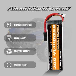 Image 3 - 2pcs Youme 4S Lipo 6500mah 14.8v RC Battery 60C with Deans XT60 Connectors for 1/10 1/12 RC Car trucks Airplane Drones Boat Tank