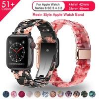 Harz Armband für apple watch 6 5 band 44mm iwatch 42mm serie 4 3 2 1 strap handgelenk zubehör Schleife 40mm armband Ersatz