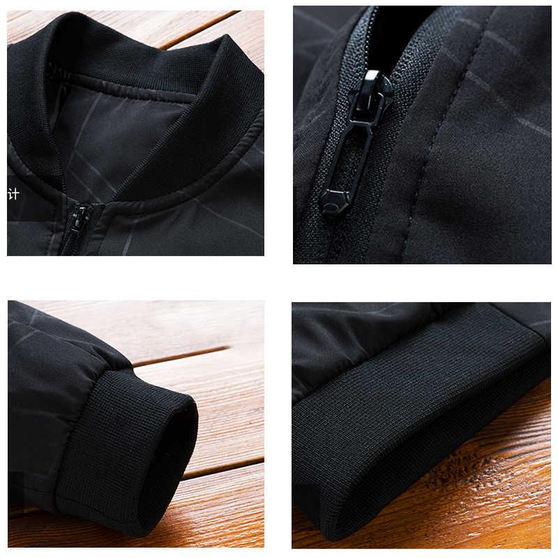 CHAIFENKO moda męska kurtka Bomber w stylu Casual, cienka szczupła kurtka bejsbolówka mężczyźni Streetwear wiatrówka hiphopowa kurtka z zamkiem płaszcz męski