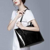 JIULIN Brand Women Leather Handbags Lady Large Tote Bag Female Shoulder Bags Bolsas Femininas Sac A Main Brown Black Red