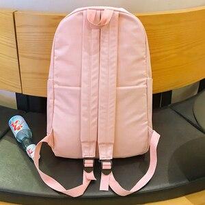 Image 5 - JOYPESSIE moda su geçirmez sırt çantası siyah okul çantası kadın erkek basit genç kız için naylon büyük seyahat Mochilas sırt çantası