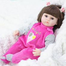 Doll Reborn Bebe Girls Baby Soft-Silicone Birthday Child for Christmas-Gifts 42cm Toys