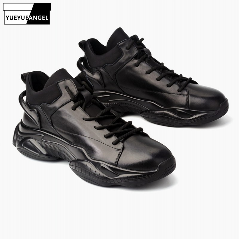 2020 Casual Genuine Leather Shoes Men Fleece Warm Round Toe Footwear High Quality Lace Up Comfort Fashion Luxury Leather Shoes