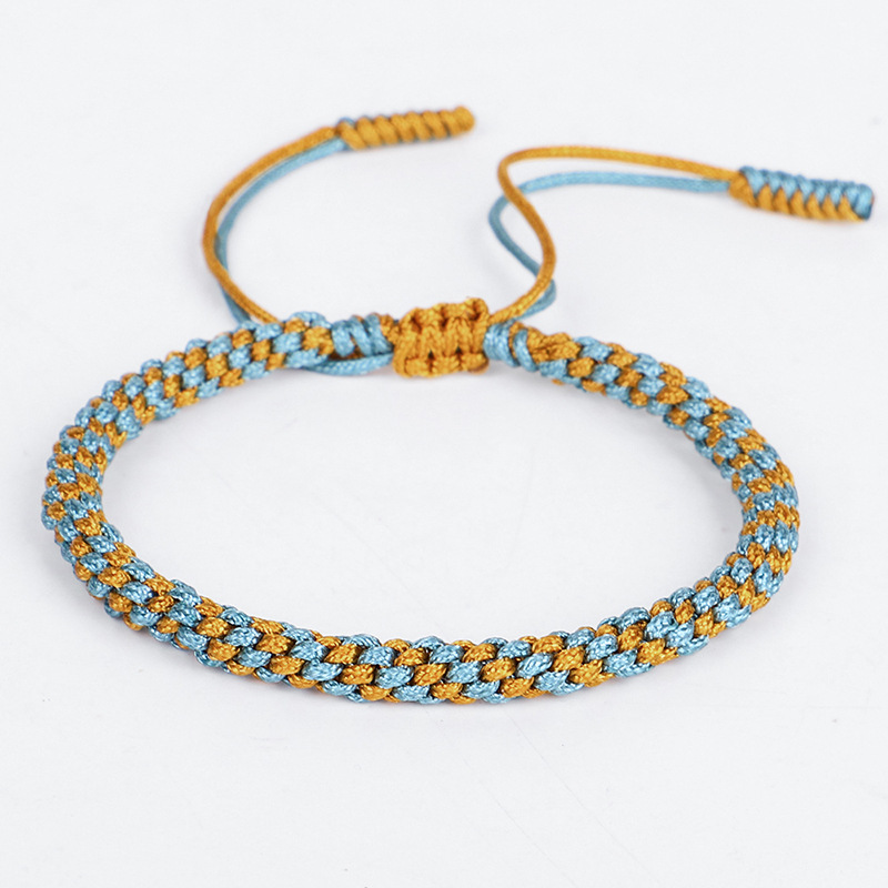 Meetvii Bohemian Tibetan Woven Rope Bracelet for Women Men String Chain Adjustable Lucky Rope Corn Knot Bracelet Jewelry