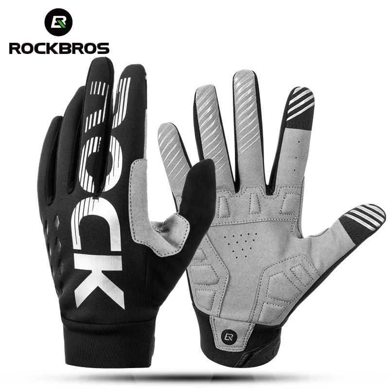 Rockbros Windproof Winter-Spring Cycling Gloves Touch Screen Mtb