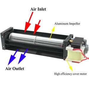 Image 2 - 1 ชิ้น Cross Flow พัดลม AC 220V 50/60Hz 12W 10W Ball แบริ่ง Crossfow ระบายอากาศ 200 มม.180 มม.