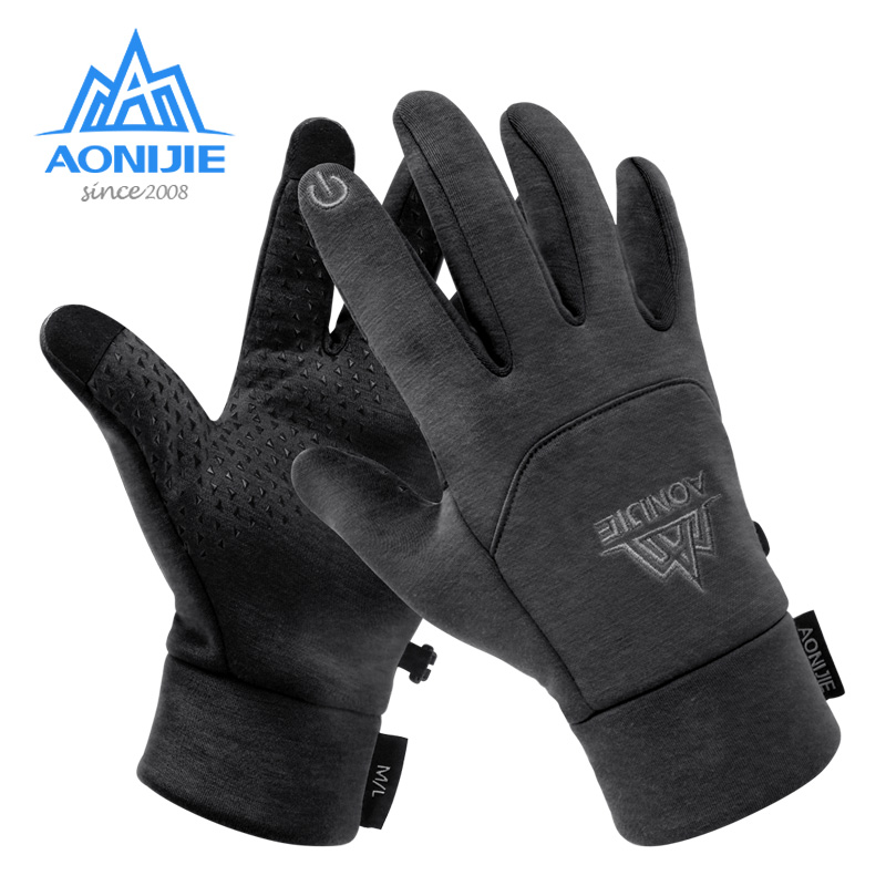 AONIJIE M53 Men Women Winter Themal Touchscreen Fleece Gloves Anti-Slip Windproof Cycling Gloves For Camping Hiking Running