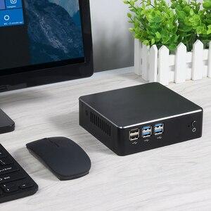 Image 5 - 미니 PC 데스크탑 컴퓨터 인텔 코어 i7 7500U i5 7200U i3 7100U 4K UHD Windows 10 Linux HDMI VGA WiFi 기가비트 이더넷 6 * USB HTPC
