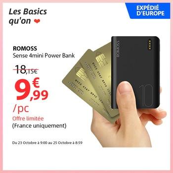 ROMOSS Sense4 Mini Power Bank 10000mAh Fast Charge Powerbank 10000mAh Portable External Battery Charger For iPhone 13 For Xiaomi 1