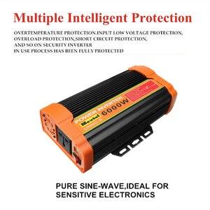 Image 3 - 인버터 12V 220V 12000 와트 피크 6000W 자동 수정 사인파 전압 변압기 태양 광 인버터 변환기 자동차 충전 USB