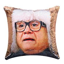 DIY Sequin Danny Devito Reversible Color Changing Pillow Case Magical Mermaid Decorative Cushion Cover with Champagne danny ayers beginning xml