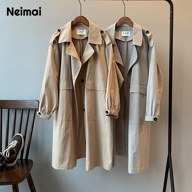 Neimai Корея Blusa Corta Vento осень 2019 Moda Feminina Modis Mujer 2019 Тренч женское модное пальто Abrigo Largo Abrigo Mujer