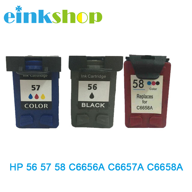 c6658a - Einkshop compatible ink cartridge C6656A C6657A C6658A  For HP 56 57 58 for hp Officejet J5500 All-in-One Series J5508 J5520