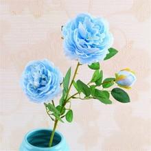3 Big Heads/Bouquet Artificial Rose Flowers Fake Flower Home Wedding Christmas Decoration