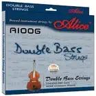 Alice Double Bass Strings A1006 5 Corde in Acciaio Intrecciato Core Ni Cr Avvolgimento Nichel Placcato Palla End Adatto per 3/4 Double Bass - 1
