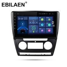 EBILAEN – AutoRadio Android 2008, Navigation GPS, caméra arrière, lecteur multimédia DVD, 1din, pour Skoda Octavia 2 A5 2013 – 10.0