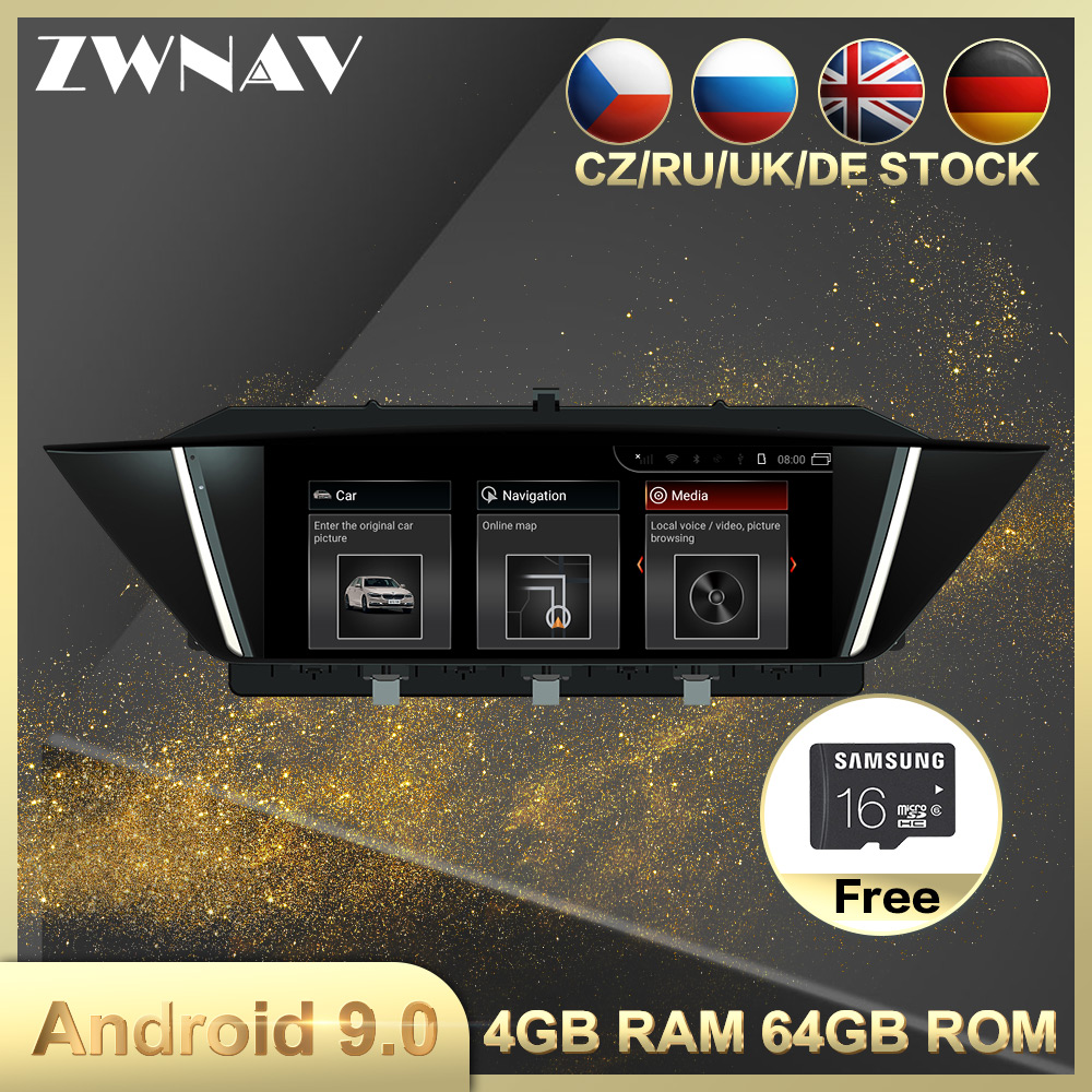 4G+64G Android 9.0 Car Multimedia Player GPS Navi For BMW X1 E84 2009-2013 Car Auto Radio Stereo Head Unit Wifi BT Free Map