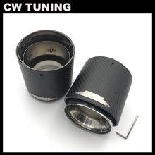 1 pçs qualidade superior de carbono silenciador do escape dicas para mini cooper s r55 r56 r57 r58 r59 r60 r61 f54 f56 f57 f60 jcw silenciador tubos