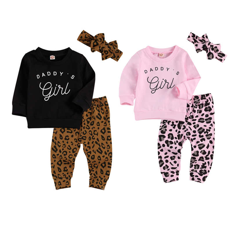 Toddler Infant Baby Girls Letter Print Ruched Tops+Long Pants+Headbands Outfits