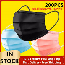Earmuff Face-Mask Disposable FILTER Mascarillas 3-Layers 200pcs Non-Woven Anti-Pollution