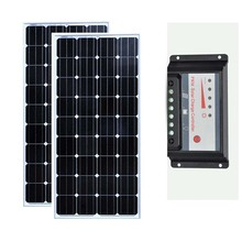 Solar Panel Kit 300w Module 150w 12v 2 Pcs Charge Controller 12v/24v 30A Charger Battery Rv Motorhomes Car LED