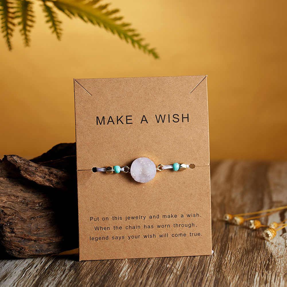 2019 Hot New Fashion z kamieniem naturalnym dla kobiet Charm regulowany bransoletki prezent osobowość biżuteria Boho bransoletka Party ślubne
