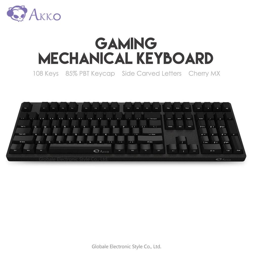 Original AKKO 3108 Gaming Mechanical Keyboard Side Carving 85% PBT 108 Keys Type - C USB Wired Computer Gamer Cherry MX Switch