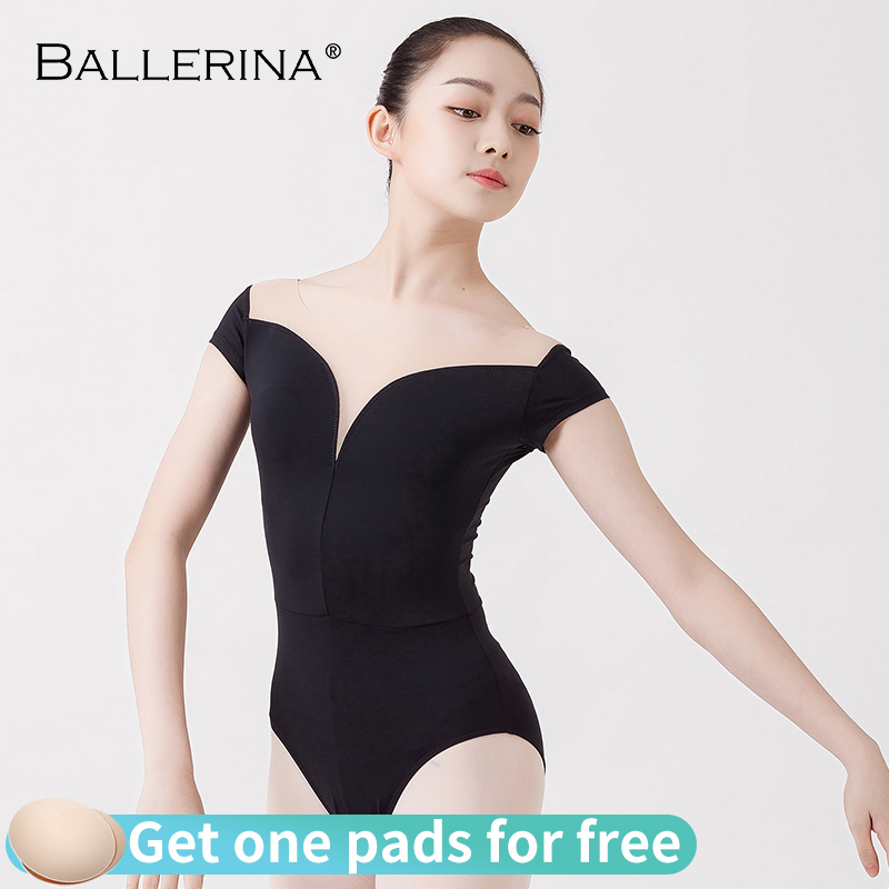Ballet Practice Leotards For Women Aerialist Dance Costume Short Sleeve Gymnastics Leotard Adulto Ballerina 5729