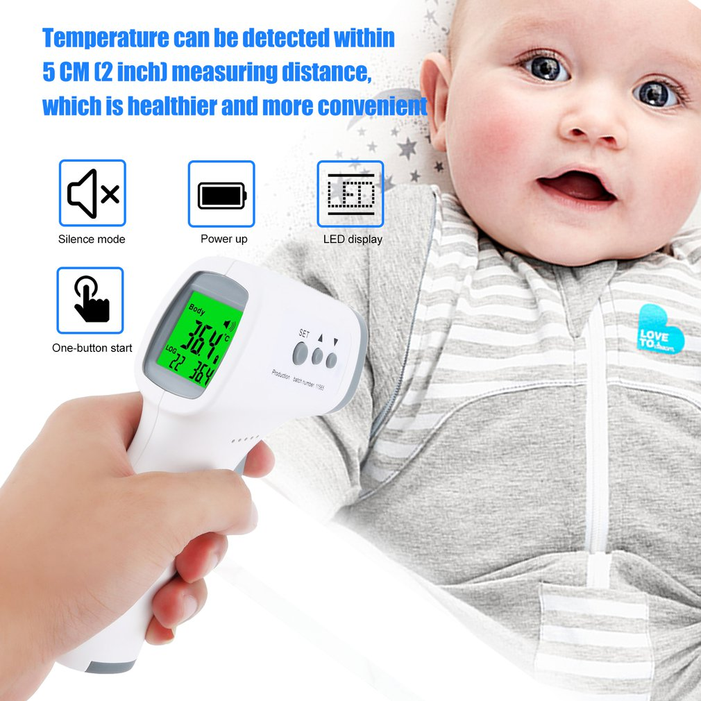 Infrared Thermometer Non-contact Digital Forehead Thermometer Forehead Body Temperature Fever Measurement Device for Baby Adults