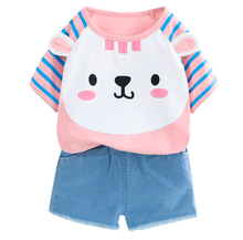 Summer Toddler Girls Clothes 2pcs Outfits Kids Clothes For Girls Tracksuit Suit For Girls Children Clothing children outfits one piece sweater suit for girls knitted cardigan autumn winter girls clothing set kids cotton 2 pcs clothes