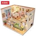 Миниатюрный Кукольный Дом DIY кукольный домик с деревянная мебель для дома звездного неба  игрушки для детей  подарок на день рождения Roombox