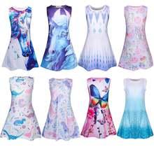 Летнее платье для девочек; Платье с единорогом; Одежда девочек